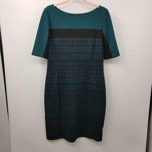 Liz Claiborne Embroidered Textured Sheath Dress